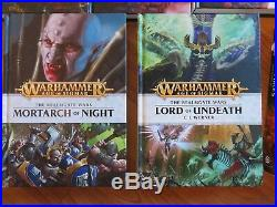 14 Pc Big Lot Warhammer Age Of Sigmar Hard Cover Books