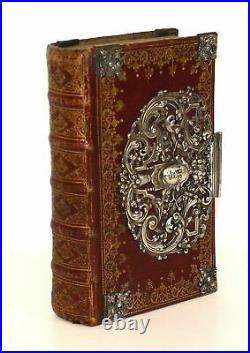 1800 Empire Silver Binding Gebetbuch prayer book Handschrift manuscript