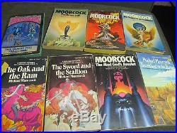 18 book lot michael moorcock elric time of the hawklords eternal champion rare