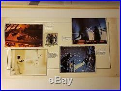 1983 Star Wars Empire Strikes Back Lp & Book Set Orig Mock Up Lucasfilm 5 Boards