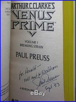 1st eds, signed by 3, Arthur C Clarke's Venus Prime Books 1-6 by Paul Preuss
