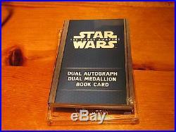 2016 Star Wars Force Awakens Series 2 Book Card Dual Autograph Medallion 2/5