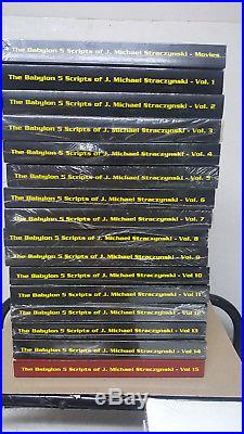 (31) Books Babylon 5 The Scripts Vol 1-15, Signed Cast Script With Extras