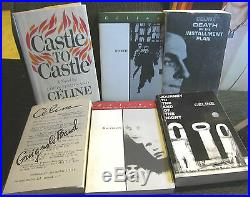 6 book lot louis-ferdinand celine castle HB guignol's band journey end of night