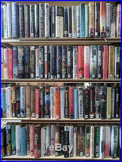 ADULT FICTION BOOKS HUGE job lot mixed box of 200 hardback books for Book Arch