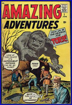 AMAZING ADVENTURES 1 VG+/4.5 Cool book we rarely get! Marvel before Marvel
