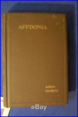 Affdonia By Anno Domini Rare Antique Old Book Sci-fi