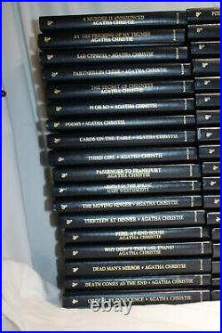 Agatha Christie Bantam Books Mystery Collection 90 Leatherette Lot Collection