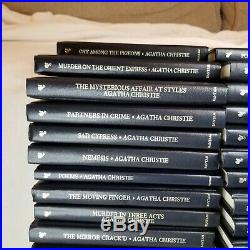 Agatha Christie Mystery Series Collection Lot of 44 Books Leatherette Hardcover
