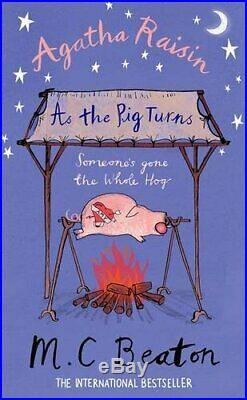 Agatha Raisin As The Pig Turns by M. C. Beaton Book The Cheap Fast Free Post