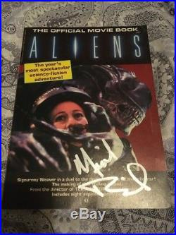 Aliens Movie Book Signed By Cast/crew With Posters! Goldstein Biehn Rolston Ross
