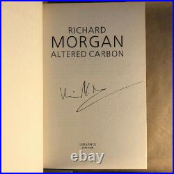 Altered Carbon Set by Richard K Morgan (Signed, First UK Editions, Hardcover)