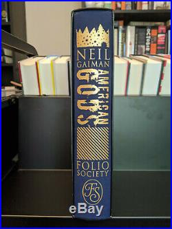 American Gods Neil Gaiman FOLIO SOCIETY SLIPCASE VG, Book NM