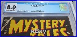 Atlas Comics 2/55 Mystery Tales #26 CGC Universal Grade 8.0 Pre Code Horror Book