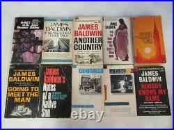 BIG Lot (10) JAMES BALDWIN Vintage Books NOTES OF A NATIVE SON, Another Country
