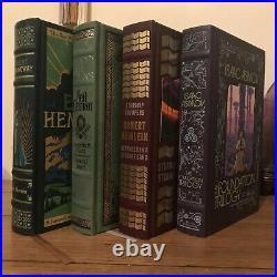 Barnes & Noble, Leatherbound 4 Books (Neil Gaiman, Asimov, Heinlein, Hemingway)