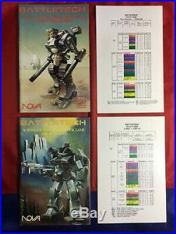 Battletech Combat Book Game 1987 Set of all 6 books with Stat Cards complete