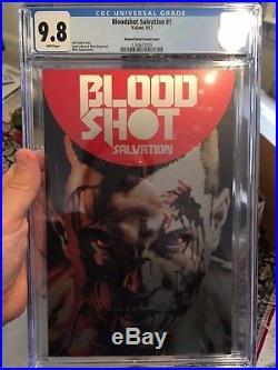 Bloodshot Salvation #1 CGC 9.8 Brushed Metal Variant Comic Book Valiant (1of 6)