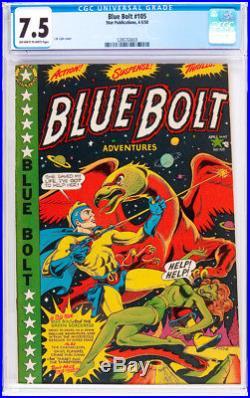 Blue Bolt # 105 Classic L. B. Cole Sci-Fi Cover! CGC 7.5 scarce Star book