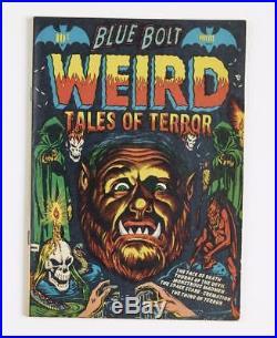 Blue Bolt Weird Tales Of Terror 111 Classic Lb Cole Cover Art Rare Book