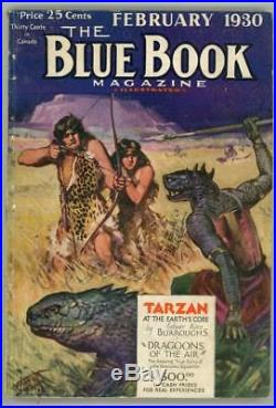 Blue Book Feb 1930 Cool Scifi Cvr Burroughs Tarzan at the Earth's Core (6/7)