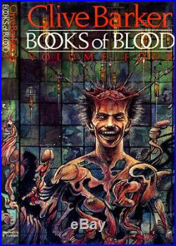 Books of Blood Clive Barker First 6-volume HC set cover art by Clive! All Signed