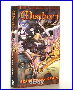 Brandon Sanderson SIGNED Mistborn The Final Empire Book 1, 1st Edition 1st Print