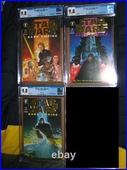 CGC 9.8 STAR WARS DARK EMPIRE 1 2 3 GOLD VARIANT COMIC BOOK SCIFI MOVIE 1993 1st