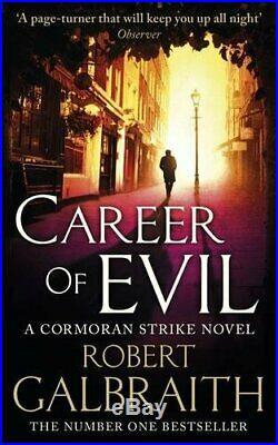 Career of Evil Cormoran Strike Book 3 by Galbraith, Robert Book The Cheap Fast