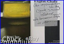 Chuck PalahniukSIGNED & LINEDFight ClubTRUE 1st/1st +Photos! (NOT INSCRIBED!)
