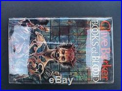 Clive Barker Books Of Blood Volume 1-6 Signed 1984 Weidenfeld & Nicolson 1st Ed
