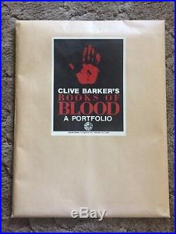 Clive Barker's BOOKS OF BLOOD ART PORTFOLIO 1000 copy SIGNED SET OF BOOK COVERS