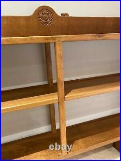 Colin Almack, Beaverman oak book case (ex mouseman)