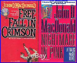 Complete Set Series Lot of 21 Travis McGee Books by John MacDonald Blue Pink