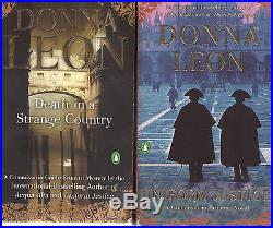 Complete Set Series Lot of 28 Inspector Guido Brunetti Mystery books Donna Leon