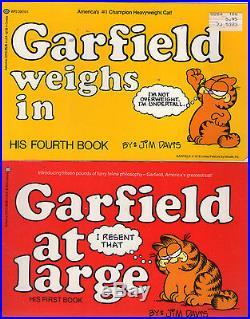Complete Set Series Lot of First 30 Garfield Books by Jim Davis (Comic Strip)
