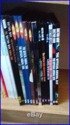 Complete set of doctor who annuals 1965-2017 + other DW related hardbacks