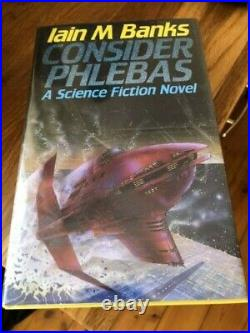 Consider Phlebas by Iain M. Banks, Hardback, 1987 First Ed Signed Pristine