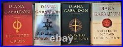 Diana Gabaldon = OUTLANDER series = 9 books large hardcovers VG many 1st