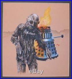 Doctor Dr Who Original Artwork Target Cover Alister Pearson Death To The Daleks
