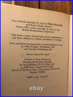 Doctor Who'Seeds of Doom' Longbowith W. H. Allen hardback HB HC Target range book