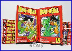 Dragon Ball Original MANGA Series Set of Books 1-16 by Akira Toriyama