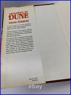 Dune Trilogy + God Emperor of Dune Vintage Hardback Book Club Edition Dust Cover