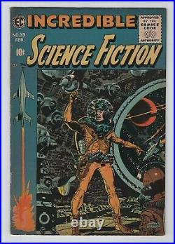 EC 1955-56 INCREDIBLE SCIENCE FICTION No. 33 VG 4.0 Last EC Book! Judgement Day