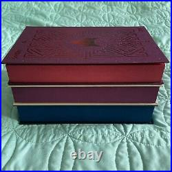 FairyLoot Red Rising Trilogy Set SPRAYED SIGNED Foiled Hardcovers Pierce Brown