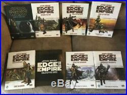 Fantasy flight star wars rpg book lot edge of the empire/dawn of rebellion