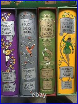 Folio Society Andrew Lang Fairy Books 12 Volumes Hb