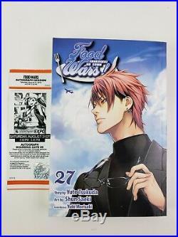 Food Wars Shokugeki No Soma Manga Book Signed Autograph Yuto Tsukuda Shun Saeki