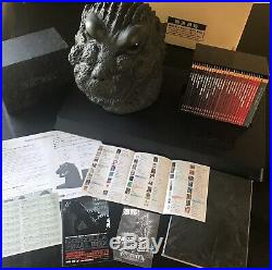 GODZILLA FINAL BOX COMPLETE SET! DVD Set, Poster Book, Bust, Display Stand