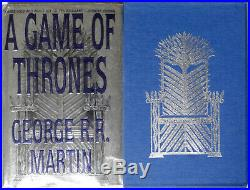 George RR Martin A Game of Thrones Book 1 Hardcover 1st Edition 1st with Slipcase
